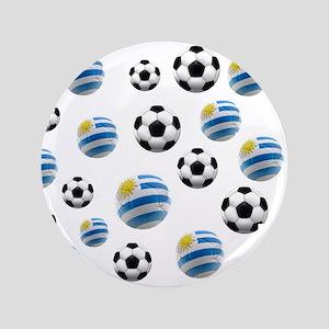"Uruguay Soccer Balls 3.5"" Button"