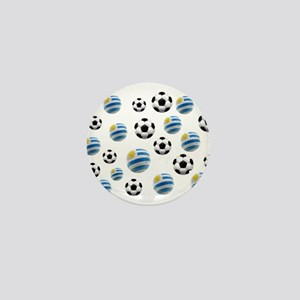 Uruguay Soccer Balls Mini Button