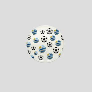 Uruguay Soccer Balls Mini Button