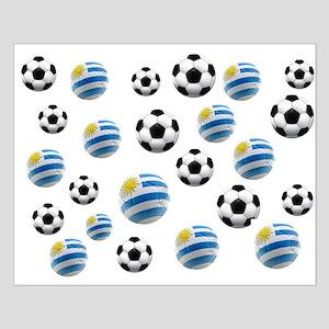 Uruguay Soccer Balls Small Poster