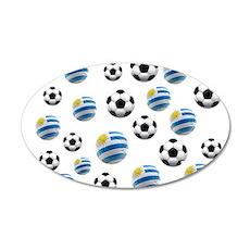 Uruguay Soccer Balls Wall Decal