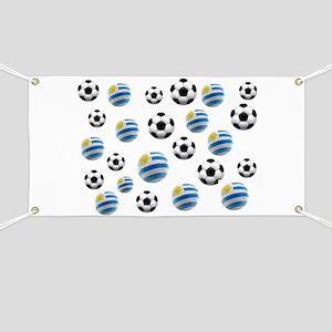 Uruguay Soccer Balls Banner