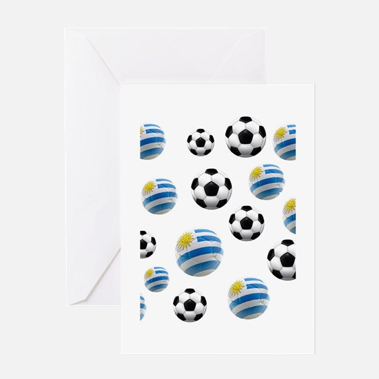 Uruguay Soccer Balls Greeting Card