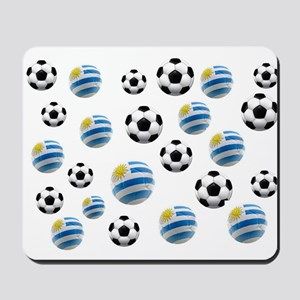 Uruguay Soccer Balls Mousepad