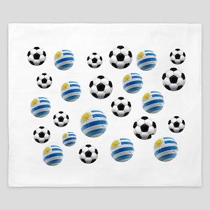 Uruguay Soccer Balls King Duvet