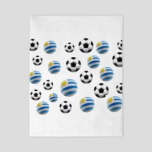 Uruguay Soccer Balls Twin Duvet