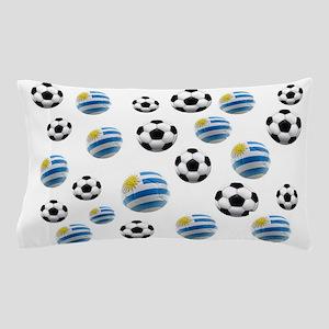 Uruguay Soccer Balls Pillow Case