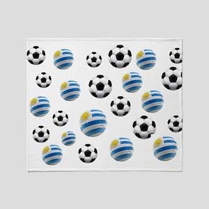 Uruguay Soccer Balls Throw Blanket