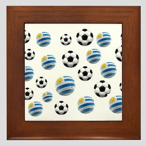 Uruguay Soccer Balls Framed Tile