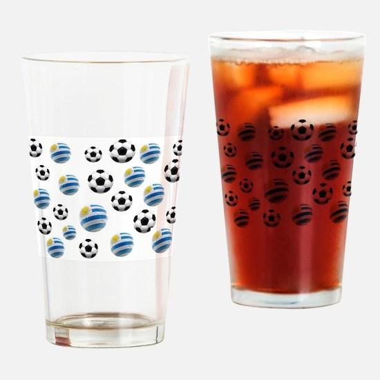 Uruguay Soccer Balls Drinking Glass