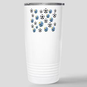 Uruguay Soccer Balls Stainless Steel Travel Mug