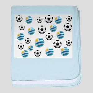 Uruguay Soccer Balls baby blanket