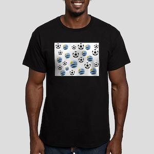 Uruguay Soccer Balls Men's Fitted T-Shirt (dark)