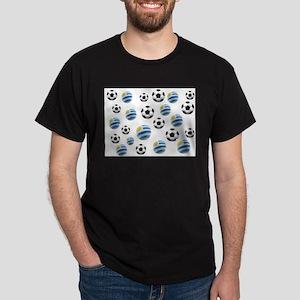Uruguay Soccer Balls Dark T-Shirt