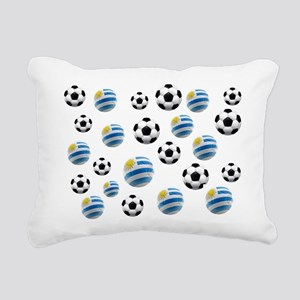 Uruguay Soccer Balls Rectangular Canvas Pillow