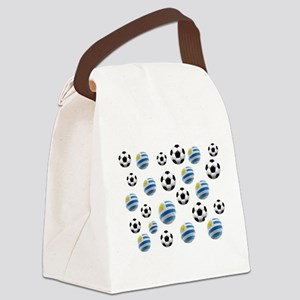 Uruguay Soccer Balls Canvas Lunch Bag
