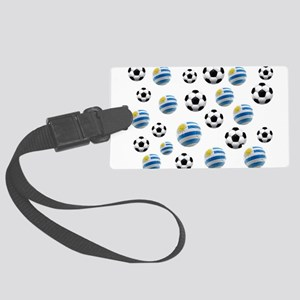 Uruguay Soccer Balls Large Luggage Tag