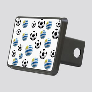 Uruguay Soccer Balls Rectangular Hitch Cover