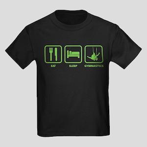 Eat Sleep Gymnastics Kids Dark T-Shirt