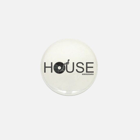 House Vinyl Mini Button