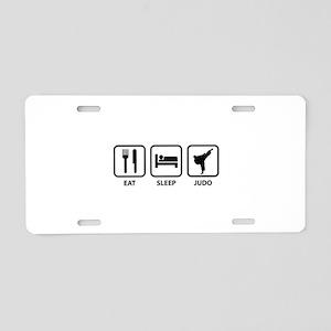 Eat Sleep Judo Aluminum License Plate