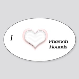I heart Pharaoh Hounds Oval Sticker