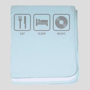 Eat Sleep Music baby blanket