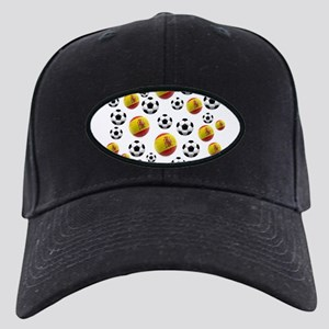 Spain Soccer Balls Black Cap