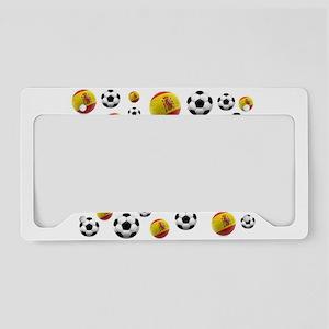 Spain Soccer Balls License Plate Holder