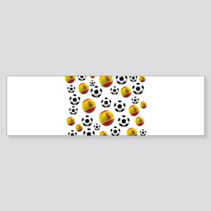 Spain Soccer Balls Sticker (Bumper)