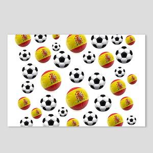 Spain Soccer Balls Postcards (Package of 8)