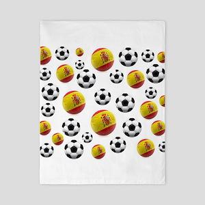 Spain Soccer Balls Twin Duvet