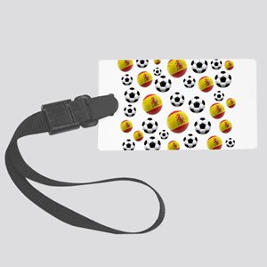 Spain Soccer Balls Large Luggage Tag