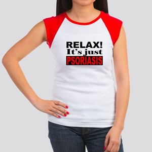 968054cf734c4 Relax It s Just Psoriasis Women s Cap Sleeve T-Shi