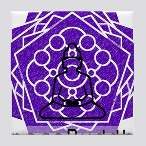 Space Buddha Tile Coaster