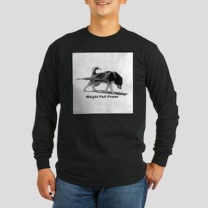 Weight Pull Power Long Sleeve Dark T-Shirt