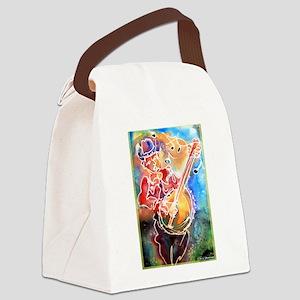 Banjo! Cowboy art! Canvas Lunch Bag