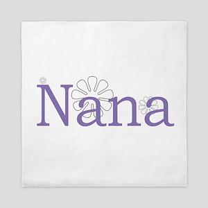 Nana Name Purple Queen Duvet