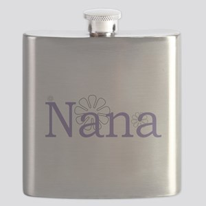 Nana Name Purple Flask