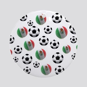 Mexican soccer balls Round Ornament