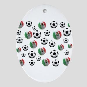 Mexican soccer balls Oval Ornament