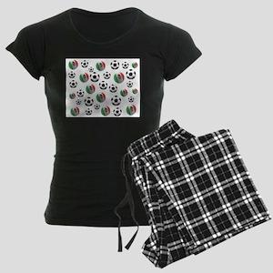 Mexican soccer balls Women's Dark Pajamas