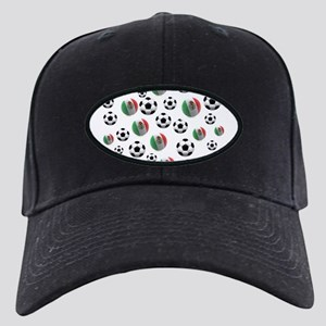 Mexican soccer balls Black Cap with Patch