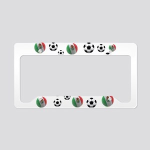 Mexican soccer balls License Plate Holder