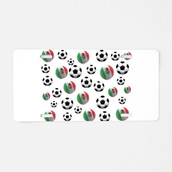 Mexican soccer balls Aluminum License Plate