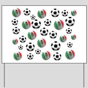 Mexican soccer balls Yard Sign