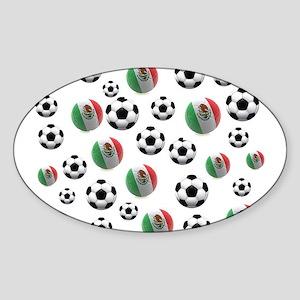 Mexican soccer balls Sticker (Oval)
