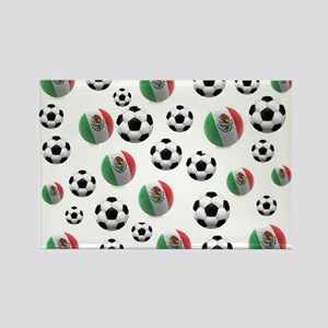 Mexican soccer balls Rectangle Magnet