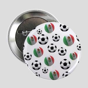 """Mexican soccer balls 2.25"""" Button"""