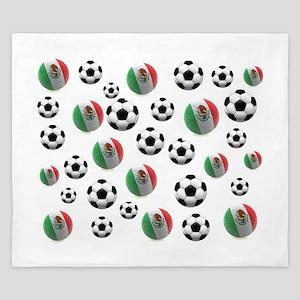Mexican soccer balls King Duvet